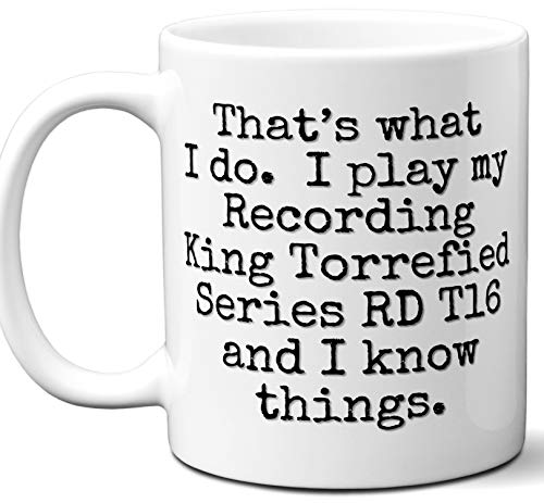 Guitar Gifts Mug. Recording King Torrefied Series RD T16 Guitar Players Lover Accessories Music Teacher Lover Him Her Funny Dad Men Women Card Pick Musician Acoustic Unique - Series T16