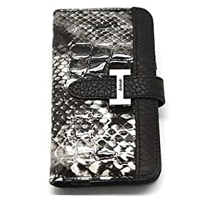 DD Snakeskin Pattern Genuine Leather Full Body Case with Card Slot and Strap for iPhone 4/4S , Pink