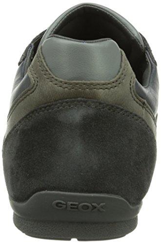 Geox U HOUSTON - zapatilla deportiva de cuero hombre gris - Grau (CHARCOALC9005)