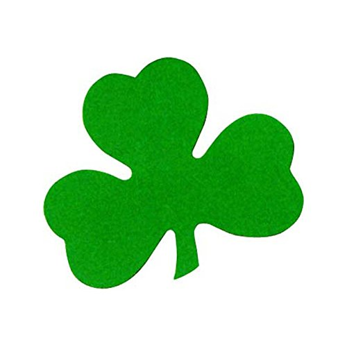 Printed Shamrock Cutout Party Accessory (1 count) (1/Pkg)