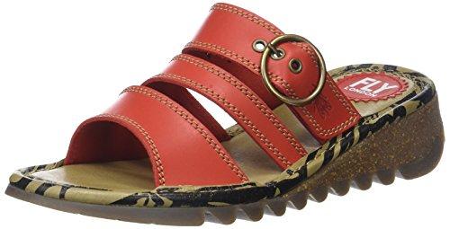 Fly London WoMen Thea724fly Open Toe Sandals Red (Scarlet)