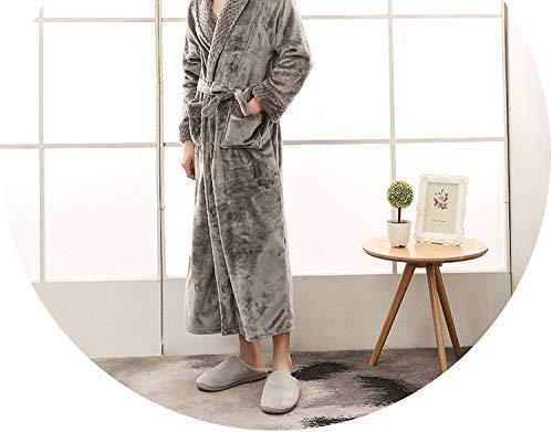 Heat-Tracing Bath Towel Robe Thick Velvet Warm Bath Gown with Big Pocket Couple Wear Sleep Set,Man - Bath Galleria