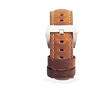 Nomad - Strap for Apple Watch. Italian Leather Replacement Band and Clasp (Italian Tan with Silver Hardware)