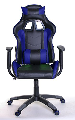 413t3xUoa L - Adjustable Reclining Racing Gaming Chair with Backrest Removable Headrest Pillow and Lumbar Cushion + Free Ebook