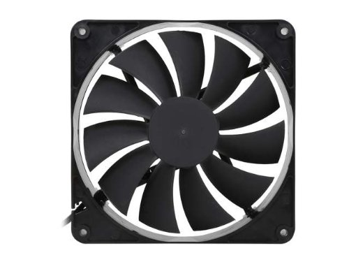 140mm Case Fan 2-Pack Computer Case Fan with Advanced Fluid Dynamic Bearing for Ultra Quietness and Silent Operation Standard 140 mm Case Fan 2 Pack with 3 Pin & Molex/LP4 Connectors