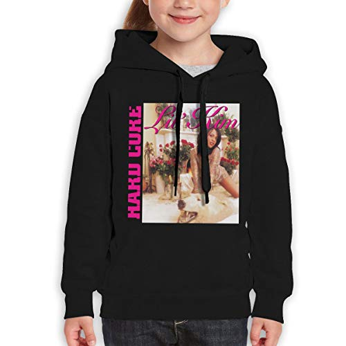 TticusC Lil' Kim Hard Core Teens Hoodies Hooded Sweatshirt for Boys and Girls Black L