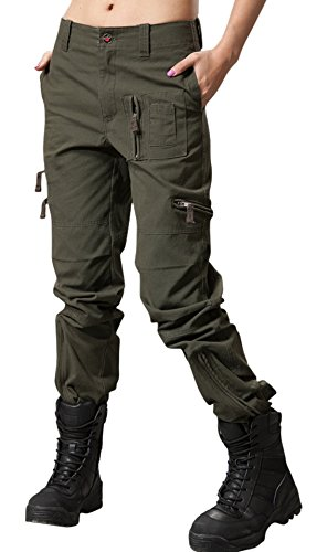 Chouyatou Women's Military Straight Fit Stylish Combat Cargo Slacks Pants - stylishcombatboots.com