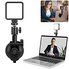 Conference Lighting Kit w Suction Mount, Mini Pocket Light, Brightness Adjustable for Video Zoom Calls, Broadcasting…