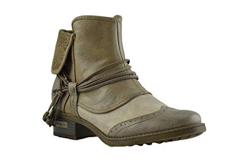 Tan Leaher Mustang Boots Vegan Ladies wx6615H7