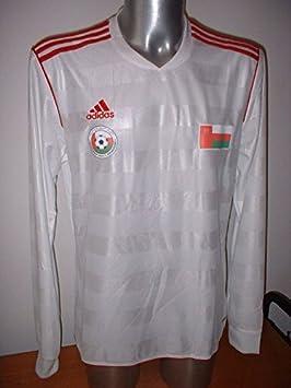 adidas Omán Camisa de Manga Larga Jersey fútbol Adulto Grande Trikot Maglia Copa del Mundo de Color Blanco: Amazon.es: Deportes y aire libre
