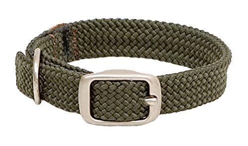Mendota Products 32123 Collar de Trenza Doble para Perro, 2.54 cm x 53.3 cm, anaranjado