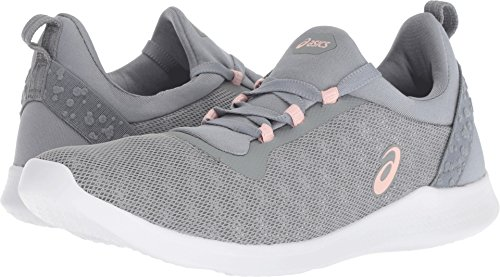 ASICS Women's Gel-Fit Sana 4 Running Shoe, Stone Grey/Frosted Rose - 7.5