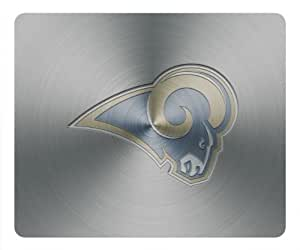 Customizablestyle Metallic St Louis Rams in Silver Mousepad, Customized Rectangle DIY Mouse Pad