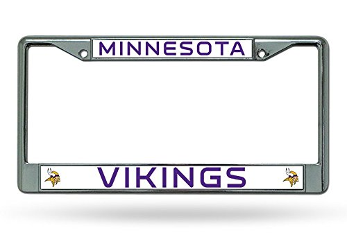 Minnesota Vikings Chrome Frame Logo License Plate Nfl Football