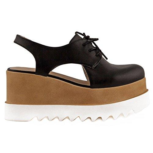 chaussures Toocool Francesine 18 Noir Femme Jh mocassins Stringati 530 Calage amx Nouvelles w1TqZTA5