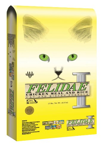 Felidae Dry Cat Food for Adult Cats and Kittens, Chicken Meal and Rice Formula, 8 Pound Bag, My Pet Supplies