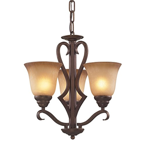 Elk Lighting 1803CH/12 Lawrenceville 3 Light Chandelier, 17