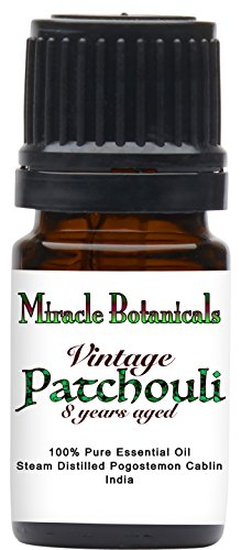Miracle Botanicals Vintage Reserve Patchouli Essential Oil - 100% Pure Pogostemon Cablin - Therapeutic Grade 5ml