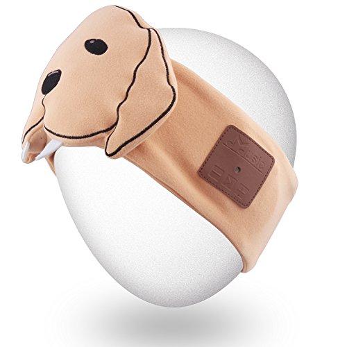 Rotibox Bluetooth Headband Sleepphone Sleeping Eyemask Headphone Headset Earphone Speakerphone/Stereo Speaker & Microphone Hands-Free Gym Exercise Fitness Sports Running - Khaki