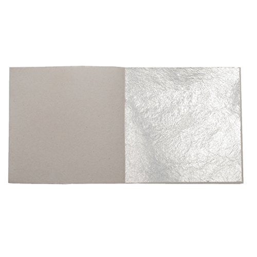 50 Silver Leaf Sheets Genuine Edible 24 Carat 999/1000 Pure Leaves Food Grade (999 Pure Silver Leaf)