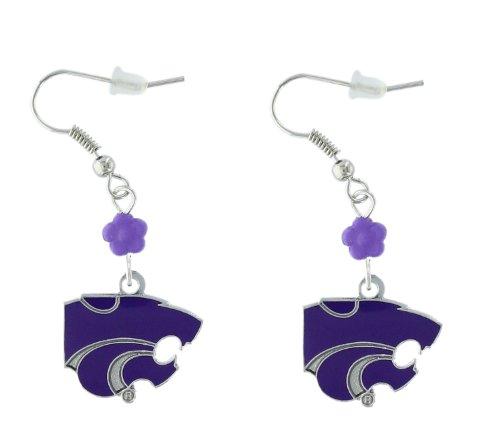 NCAA Kansas State Wildcats Sophie Beaded Earrings