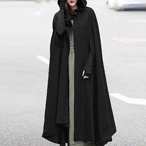 Trench for Costume Stage Black Open Coat Poncho Front Jacket mioim Vintage Cloak Halloween Coat Cardigan Womens Cape Casual Mens Cosplay Christmas Performance qHgW1AtO