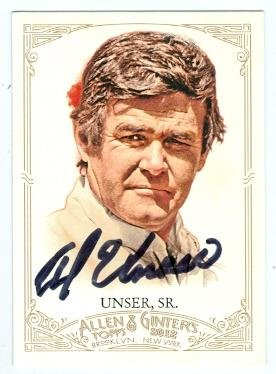 Autograph Warehouse 104627 Al Unser Sr. Autographed Trading Card Auto Racing Champion Nascar 2012 Topps Allen and Ginters No. -