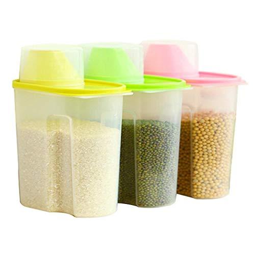 (Legros8 Transparent Plastic Sealed Fresh-keeping Food Storage Container Storage Jar Food Storage & Organization Sets)