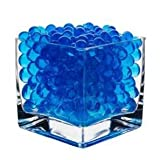 8oz -Almost 15,000 Jelly BeadZ Water Bead Gel - BLUE- Heat Sealed Bag- Water Pearls Gel Beads- Wedding & Event Centerpieces