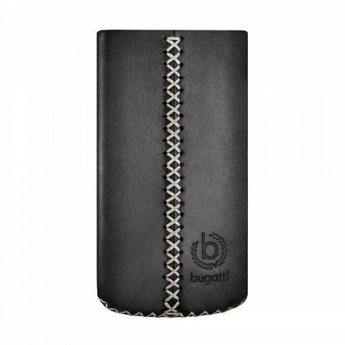 bugatti Cross Ledertasche für Apple iPhone 4/4S schwarz