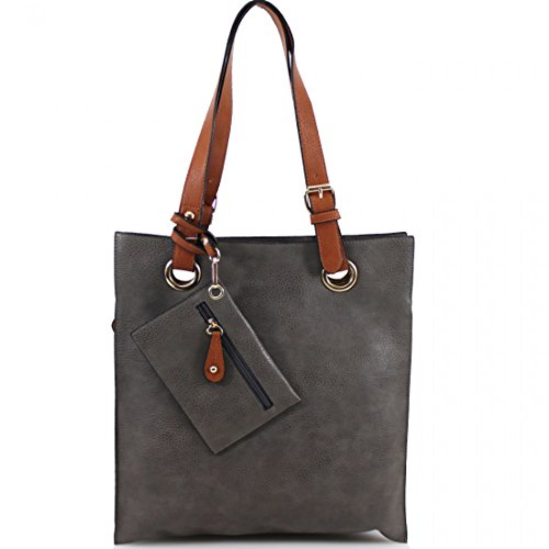 Faux 00887 Shoulder Soft Compartments Shoulder LeahWard Handbag School Leather 3 Grey Women Bag Large Handbags For Women's Holiday ntW6t0qw1