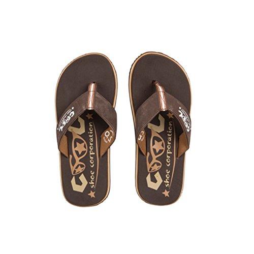 Cool Shoes Original Slight CHESTNUT 2 , Braun Flip Flops Sandalen Zehentrenner Strandlatschen Badeschlappe
