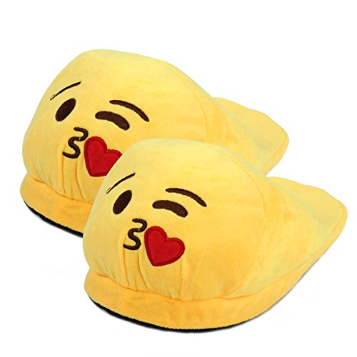 Yodensity Emoticons Slippers Men Women Indoor Home Floor Warm Winter Shoes 3.5-10.5 UK Kiss GkjaW