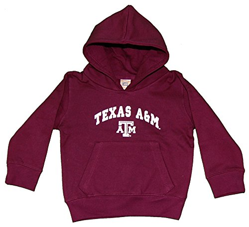 Little King NCAA Texas A&M Aggies Hooded Pullover, 3T, Maroon
