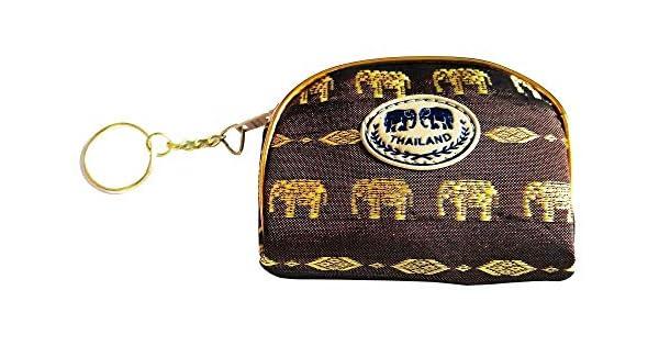 Amazon.com: Barakat - 1 monedero de elefante tailandés hecho ...