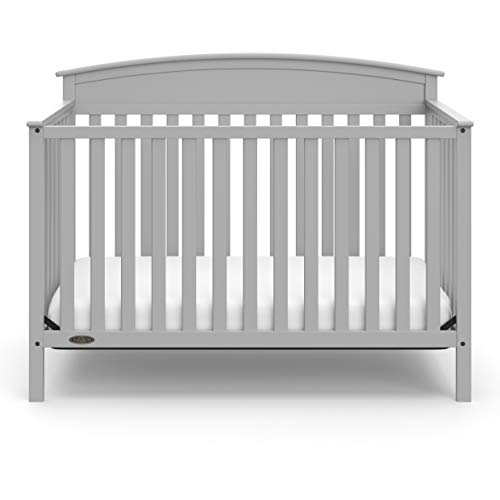 413t9UCQ0mL - Graco Benton 4-in-1 Convertible Crib, Pebble Gray, Solid Pine And Wood Product Construction, Converts To Toddler Bed Or Day Bed (Mattress Not Included)