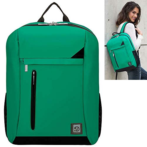 15.6 Inch 17.3 Inch Laptop Backpack Organizer Bag Fit HP Zbook, Envy, Envy x360, Omen, Pavilion, Spectre x360, Elitebook, Essential, Probook, Green