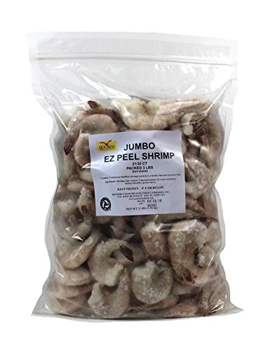 - Sea Best 21/30 Count Jumbo Easy Peel Raw Shrimp, 3 Pound