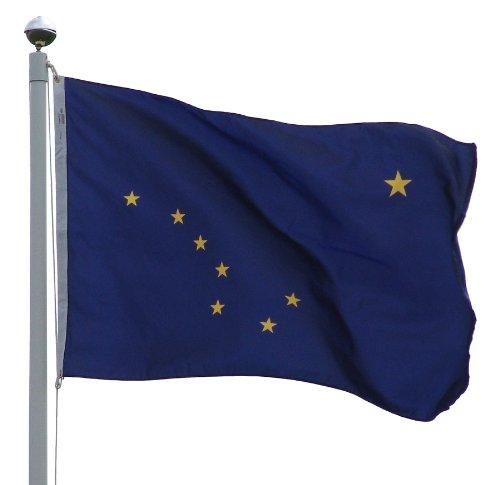 Online Stores Alaska Nylon Flag with Pole Hem, 3 by 5-Feet