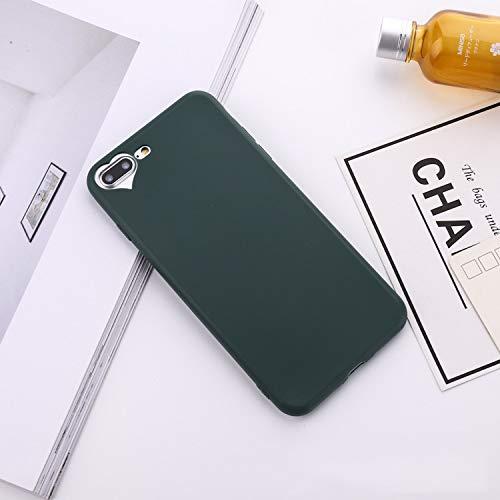 VISHTEA iPhone 8 Plus Case/iPhone 7 Plus Heart Shape iPhone 8 Plus Case [Slim Thin Fit] Heart Case for iPhone 8 Plus [Wireless Charging] for Apple (Green)