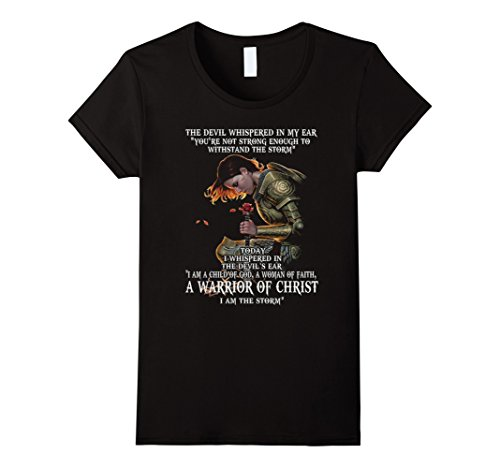 Ears Devil (Womens I Am A Child Of God A Woman Of Faith T-shirt-Cute Gift Large Black)