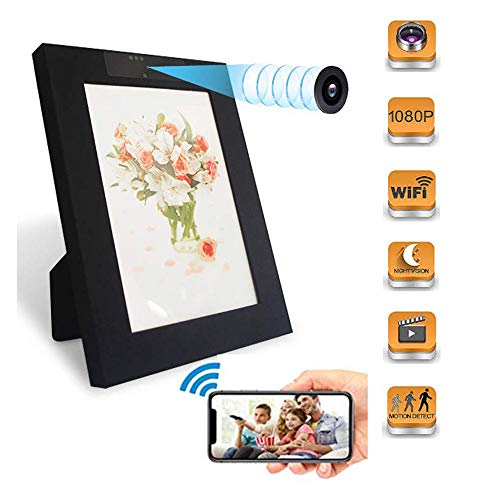 Sensico Wireless Photo Frame Hidden Camera, WiFi Mini Picture Frame Spy Camera with Night Vision, Wireless Nanny Cam HD 1080P with Motion Detection for Home Office Security