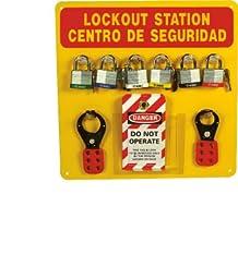 NMC LOB1YBI Plexiglass Bilingual Lockout Center Backboard with Hooks and Supplies, 14\