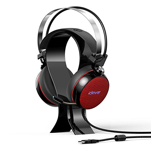 iClever-HS20-Gaming-Headphones-with-Noise-canceling-MIC-71-Surround-Sound-Headset-with-Stand-LED-Light-Vibration-Tuner-for-PC-Tablet-Computer-Red-Black