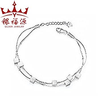 Amazon Com S925 Sterling Silver Bracelet Female Korean Student