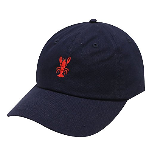 City Hunter C104 Lopster Cotton Baseball Dad Cap 19 Colors (Navy) ()