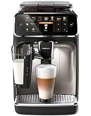 Philips Helautomatiska espressomaskiner Serie 5400, 12 utsökta kaffevarianter, LatteGo mjölksystem, Pekskärm med färg, Enkel rengöring, 12 Malningssteg, Krom, EP5447/90
