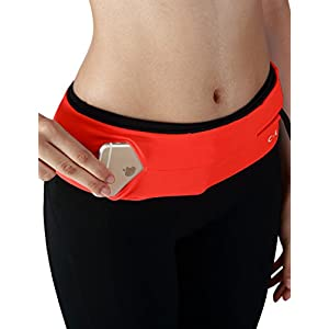 Yogareflex Running Belt Waist Pack , Universal Outdoor Sports Waist Fanny Pack Belt , Neonorange , Large