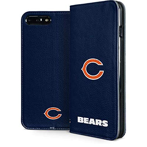 Skinit Chicago Bears iPhone 7 Plus Folio Case - Officially Licensed NFL Phone Case - Faux-Leather Wallet iPhone 7 Plus Cover