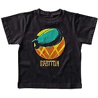 Camiseta Infantil Led Zeppelin Balão, Let's Rock Baby, Preto